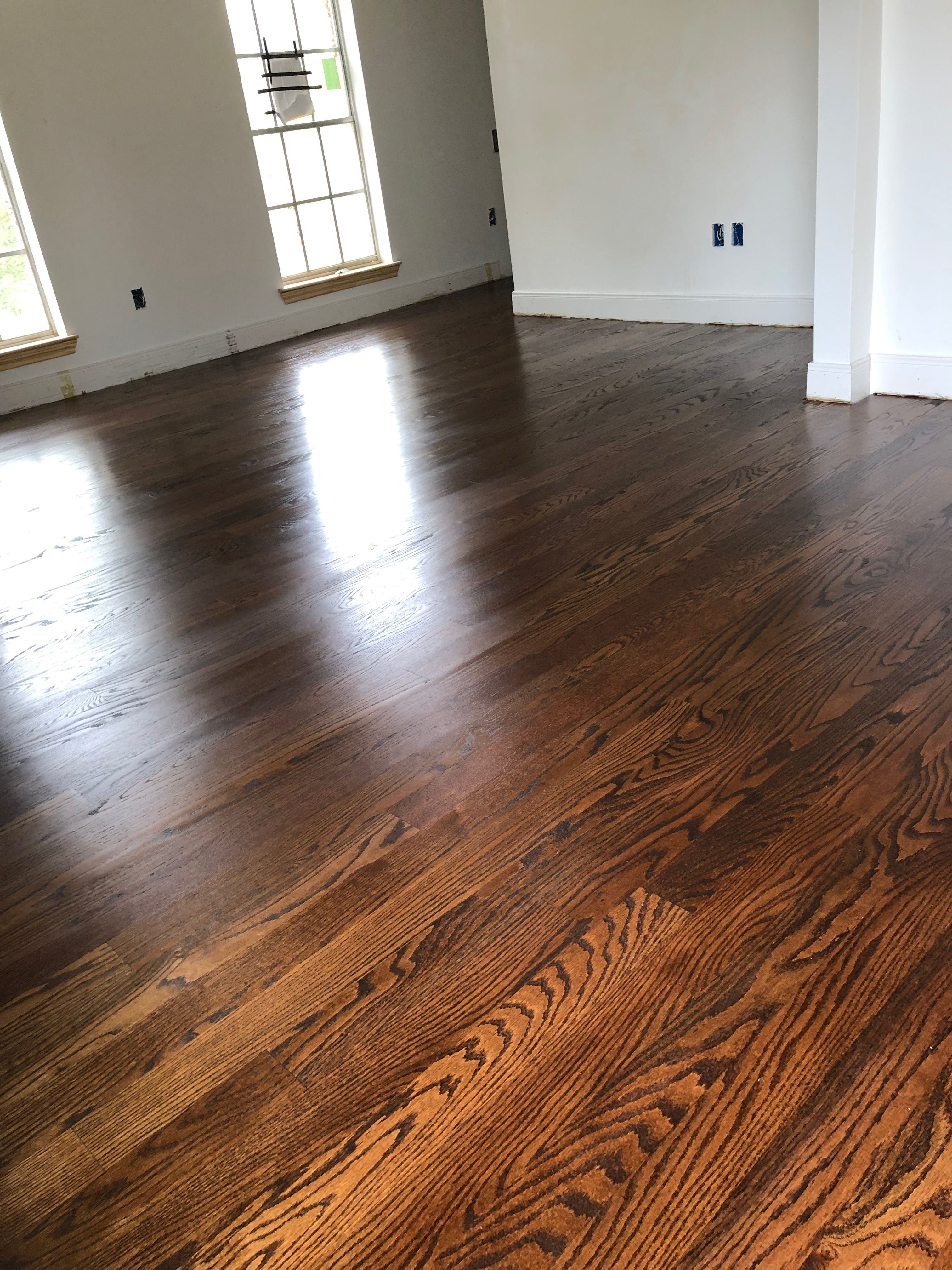 Red Oak Stained Duraseal Antique Brown Satin Finish Red Oak