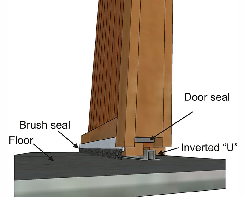 Use Brush Seals Along The Bottom Of The Sliding Barn Door