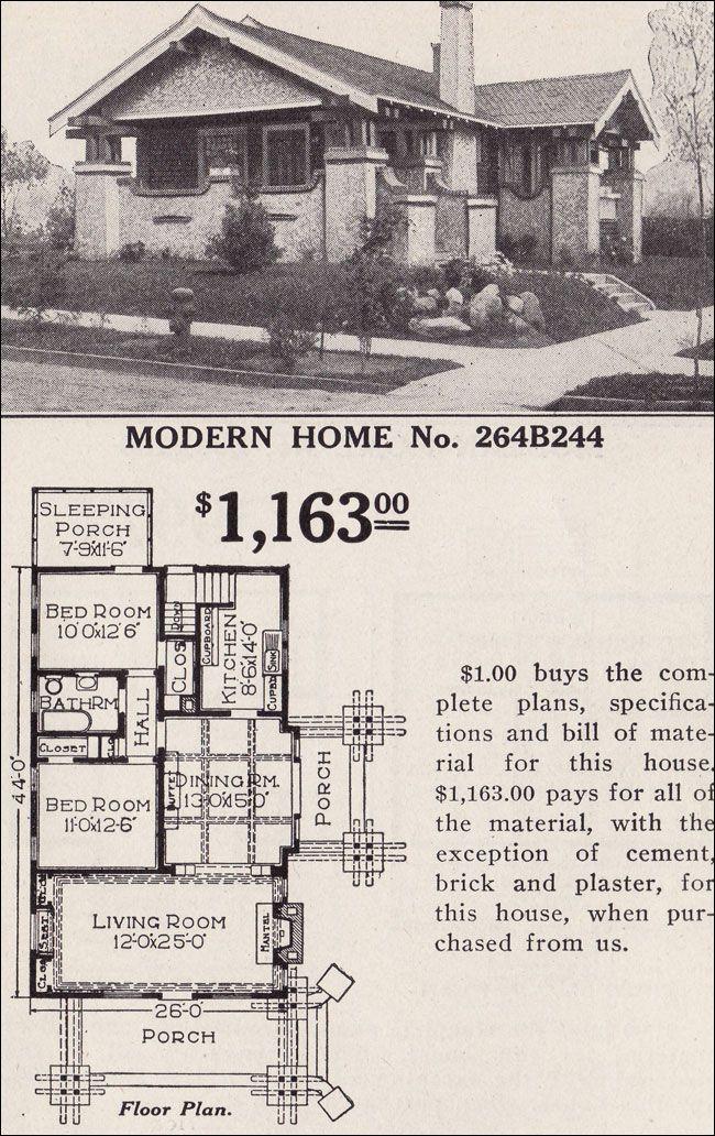 Modern Home 264b244 The Osborn Japanese Influenced Craftsman