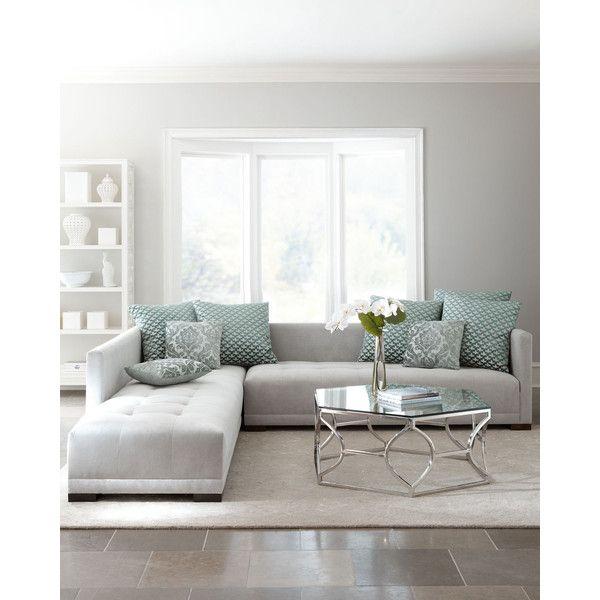 haute house sevina tufted sectional sofa 6 499 â liked on