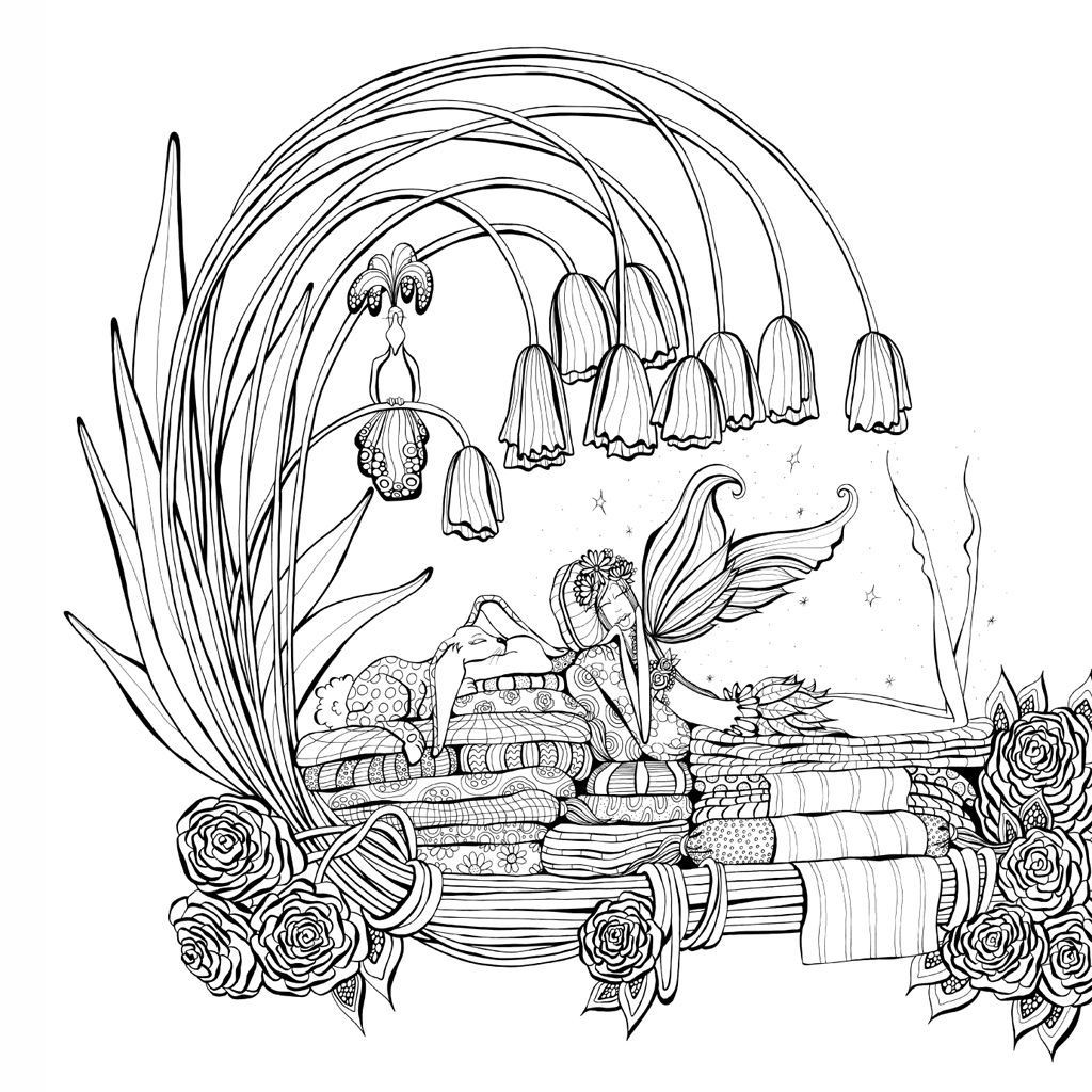 Zendoodle Coloring Presents Fairies In Dreamland