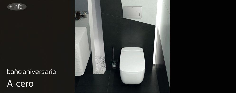 Para el baño del 50 aniversario se ha elegido el inodoro suspendido Eos.