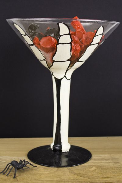 DecoArt® Giant Skeleton Martini Glass #halloween #craft Holiday - halloween crafts decorations