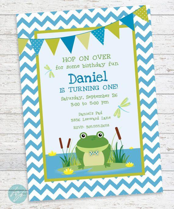 Frog birthday invitation frog birthday first by flairandpaper frog frog birthday invitation frog birthday first by flairandpaper filmwisefo