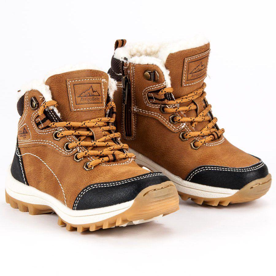 Kozaki Dla Dzieci Arrigobello Arrigo Bello Brazowe Chlopiece Buty Z Kozuszkiem Boots Army Boot Timberland Boots