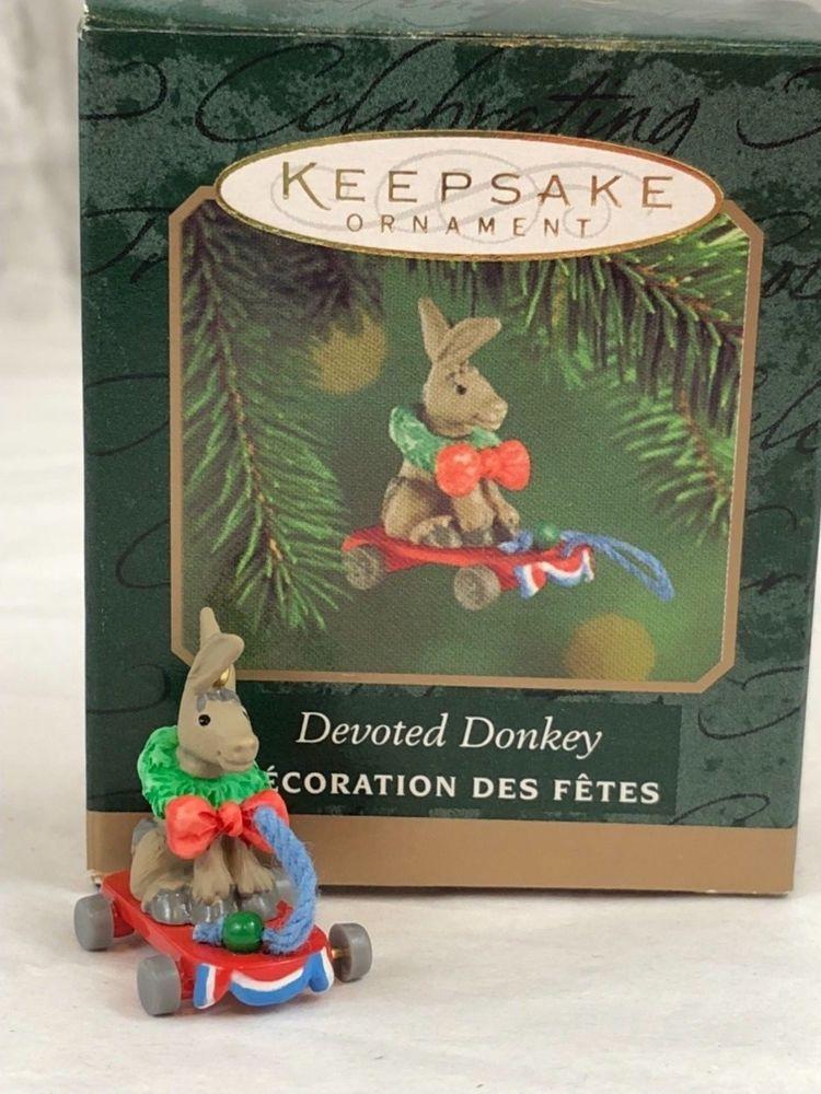 Hallmark Keepsake Ornament Devoted Donkey Christmas Collectible |  Collectibles, Decorative Collectibles, Decorative Collectible Brands | eBay! - Hallmark Keepsake Ornament Devoted Donkey Christmas Collectible