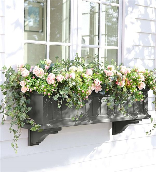 Main image for lexington self watering window box with - How to hang plants in front of windows ...