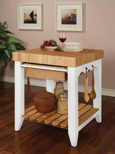 Kitchen Islands Color Story With Butcher Block Top By Powell Kitchensource Pinterest Followerfind