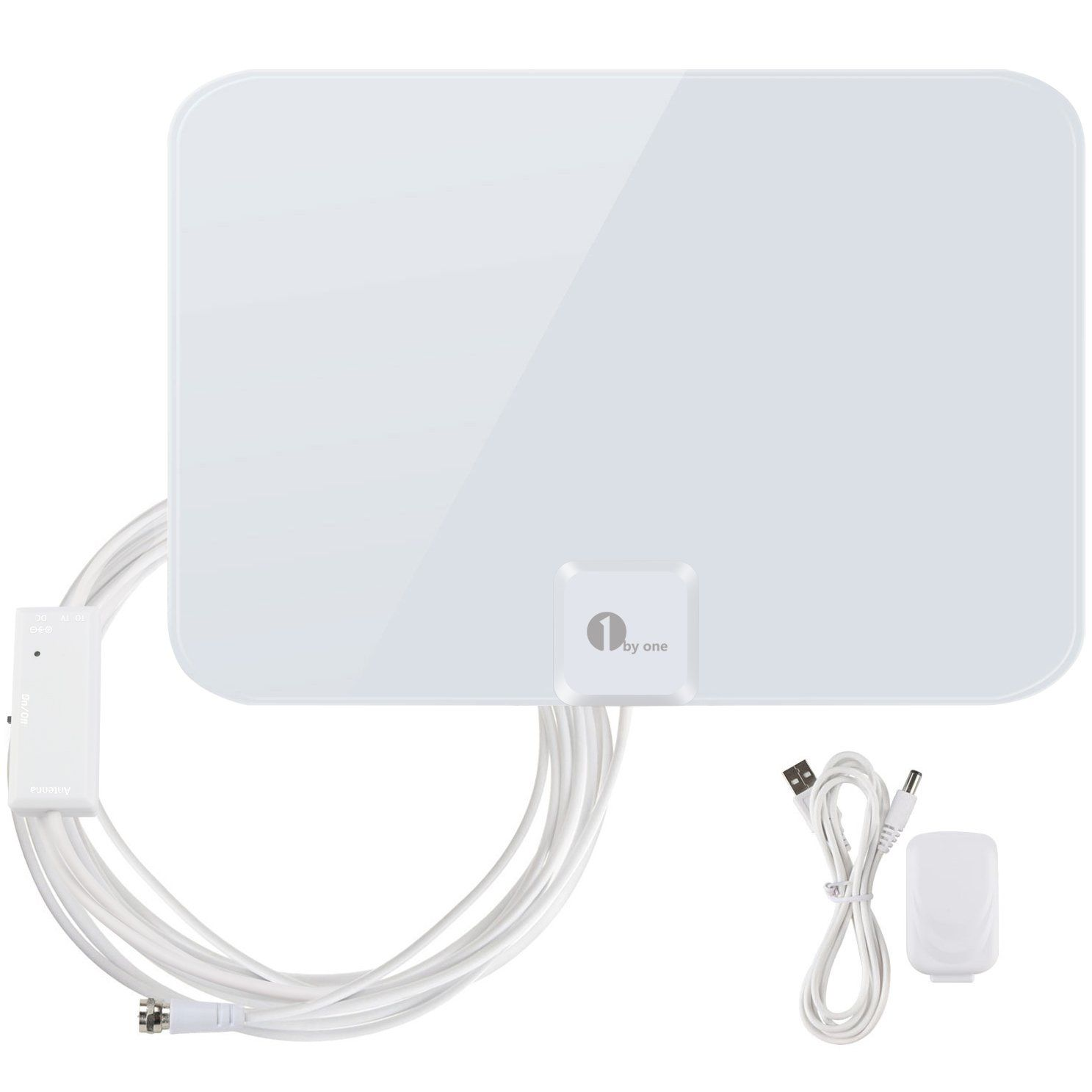 1byone 50 Miles Amplified Hdtv Antenna With Amplifier Booster Usb Power Supply To Boost Signal And 20foot Coaxial Hdtv Antenna Digital Hdtv Antenna Tv Antenna