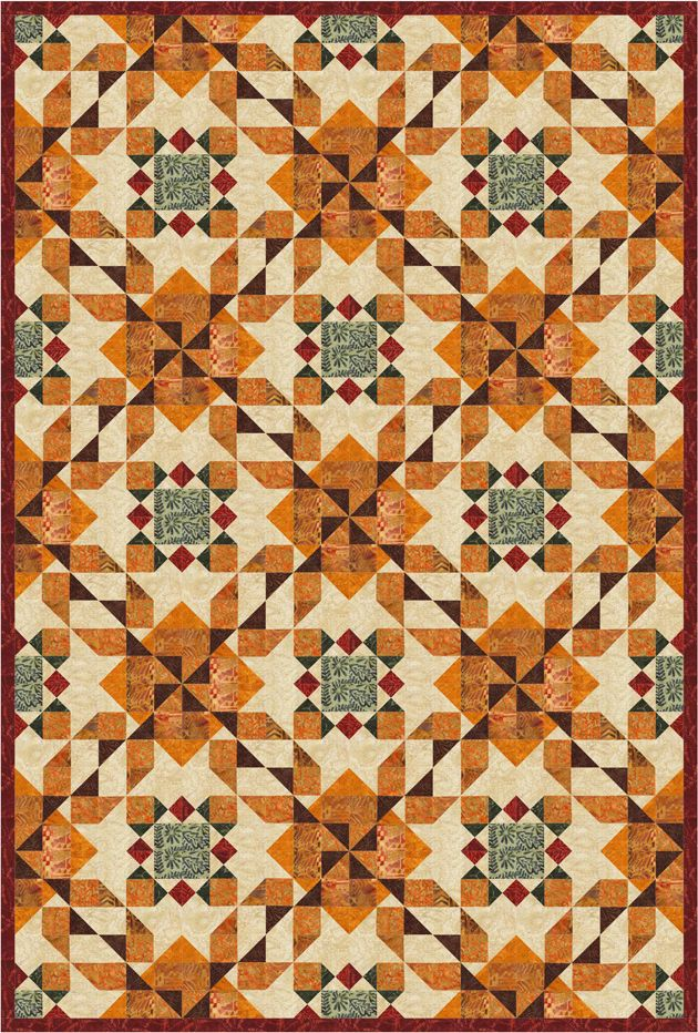 Every Stitch: Wheat and Woods quilt finished |Wheat Quilt Patterns