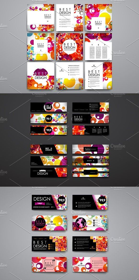 Colourful Card Templates | Card templates, Template and Business cards