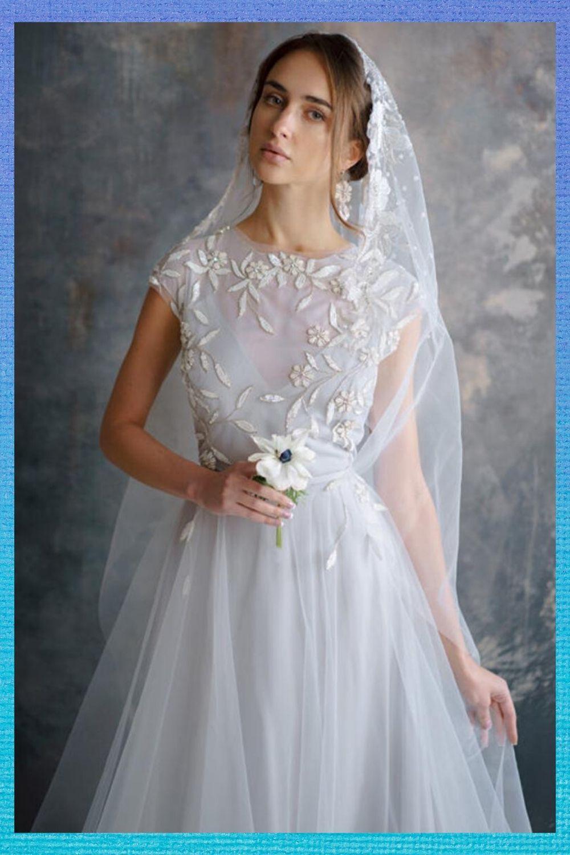 Flower Wedding Dress Etsy In 2020 Etsy Wedding Dress Ball Gowns Wedding Embroidery Dress Wedding