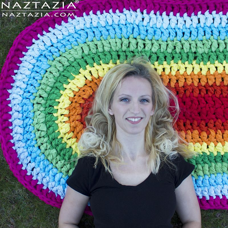 Youtube Toothbrush Rag Rug: DIY Free Pattern And YouTube Tutorial Crochet Oval Circle