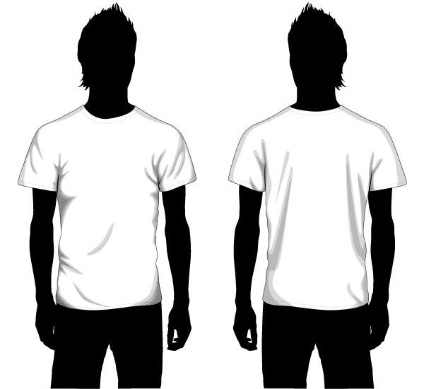 Vector Boys T-shirt Template Front and Back | Vector T-Shirt ...