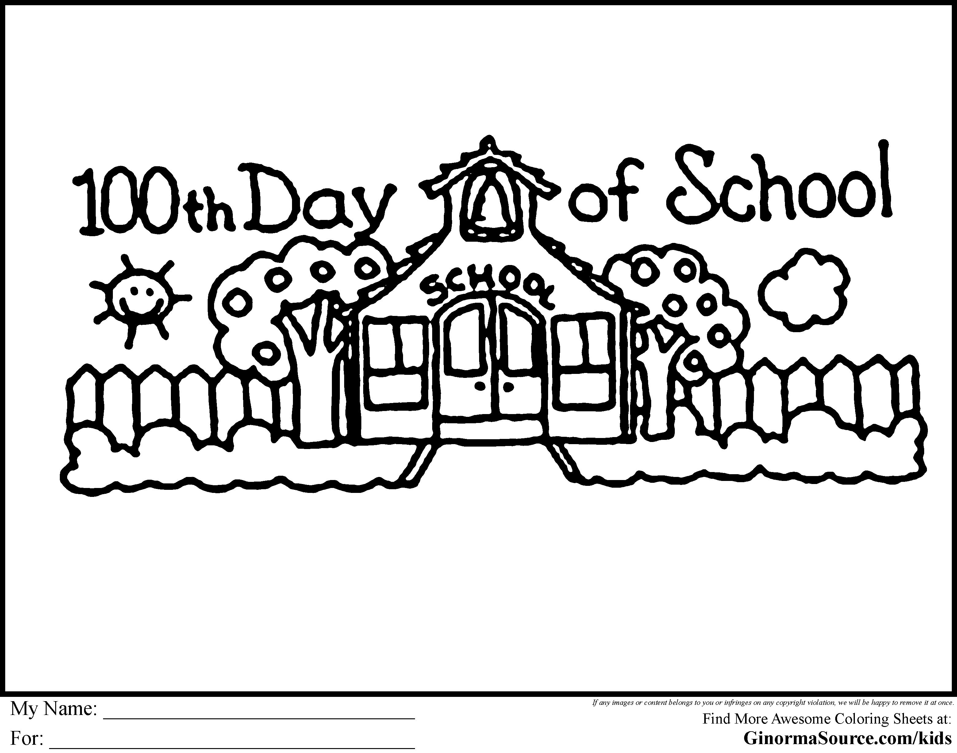 100th Day Free Coloring Pages On Masivy World 100 days of school ...