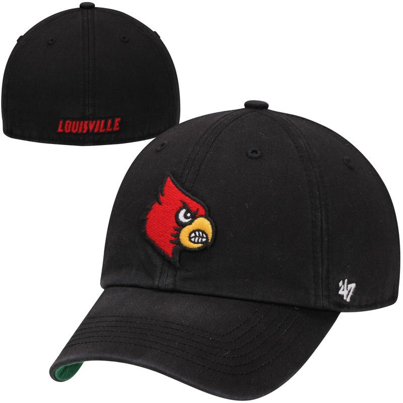 92a6d8526d1843 Louisville Cardinals Franchise Fitted Hat - Black | Products ...