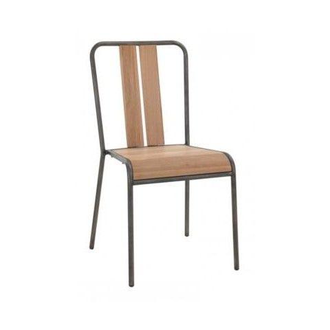 chaise en métal et chêne manhattan fly | manhattan, metals and ps - Chaise Haute Cuisine Fly