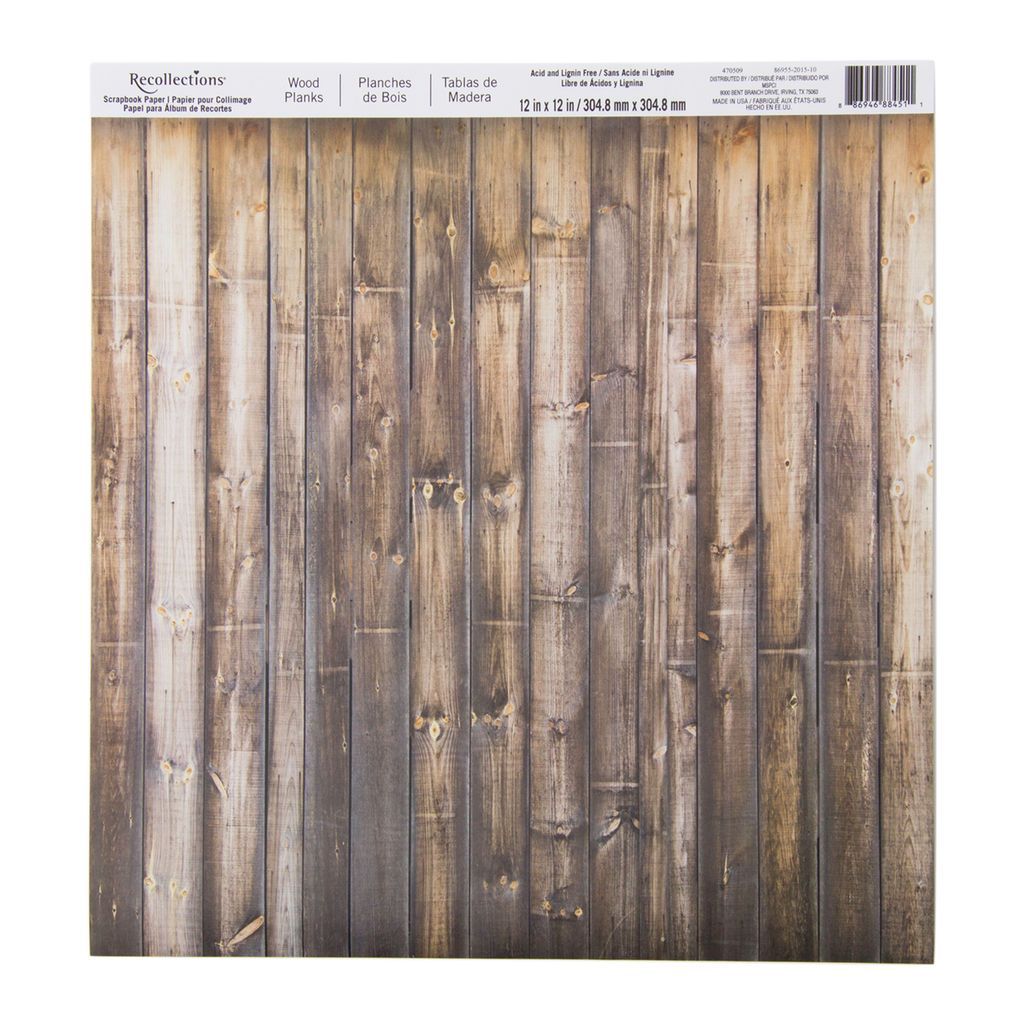 Wood Planks Scrapbook Paper By Recollections Helenas Board Super
