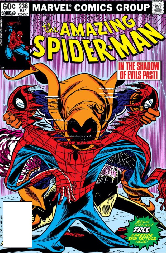 The Amazing Spider-Man #238 cover by John Romita Jr. and John Romita Sr.