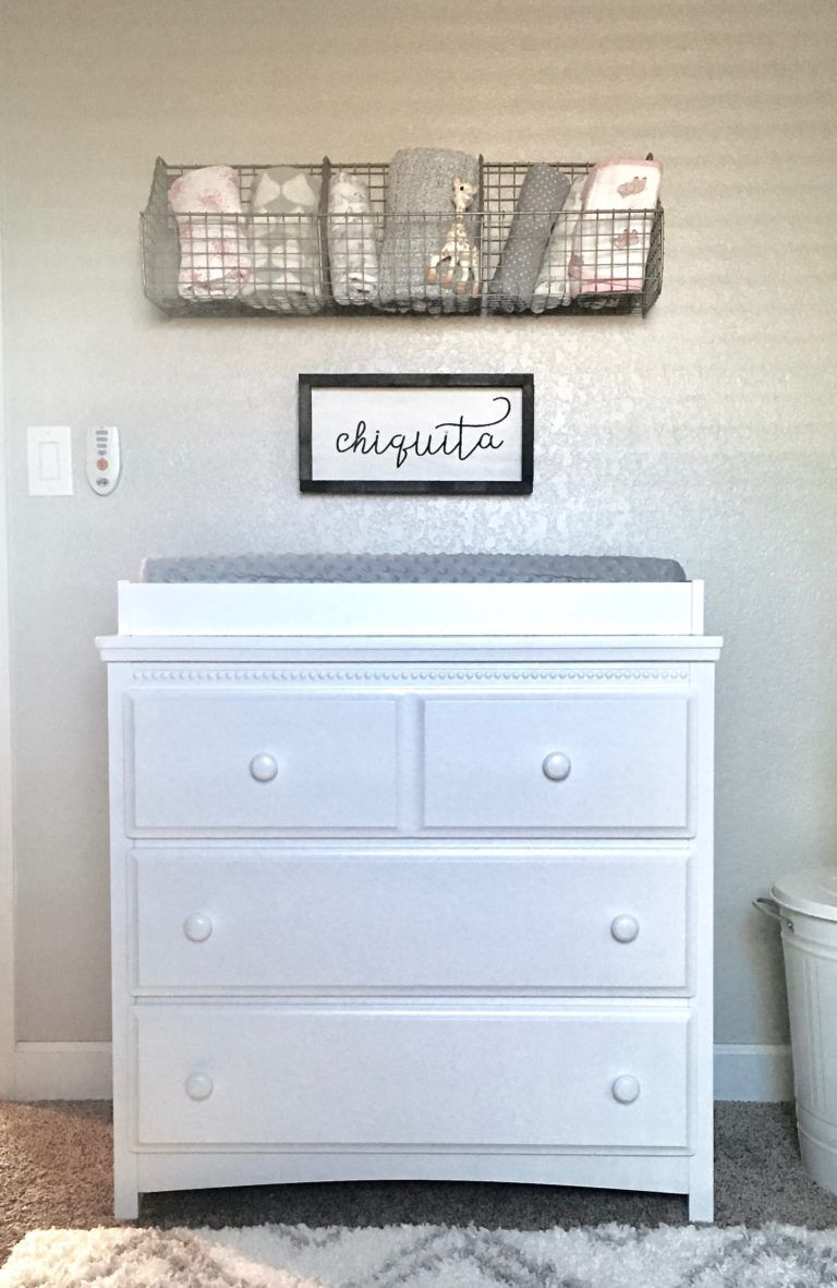 Miraculous Loving The Metal Storage Shelves Above This Changing Table Interior Design Ideas Apansoteloinfo