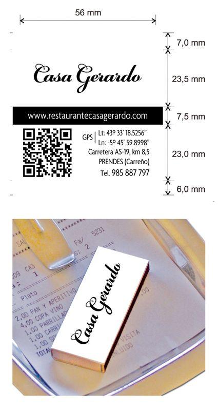 Propuesta Diseño Cajas de Cerillas para Restaurante Casa Gerardo de Prendes (Carreño).