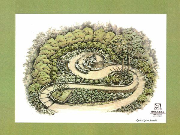 Custom Landscape Design My John Russell Landscape Architect In Birmingham Al Landscape Design Spiral Garden Garden Design