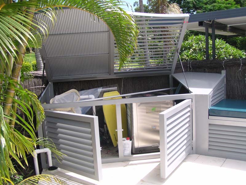 Artwork Of Pool Equipment Enclosures The Best Way To Keep Your Expensive Pool Equipment Safe Pool Equipment Cover Pool Equipment Pool Equipment Enclosure