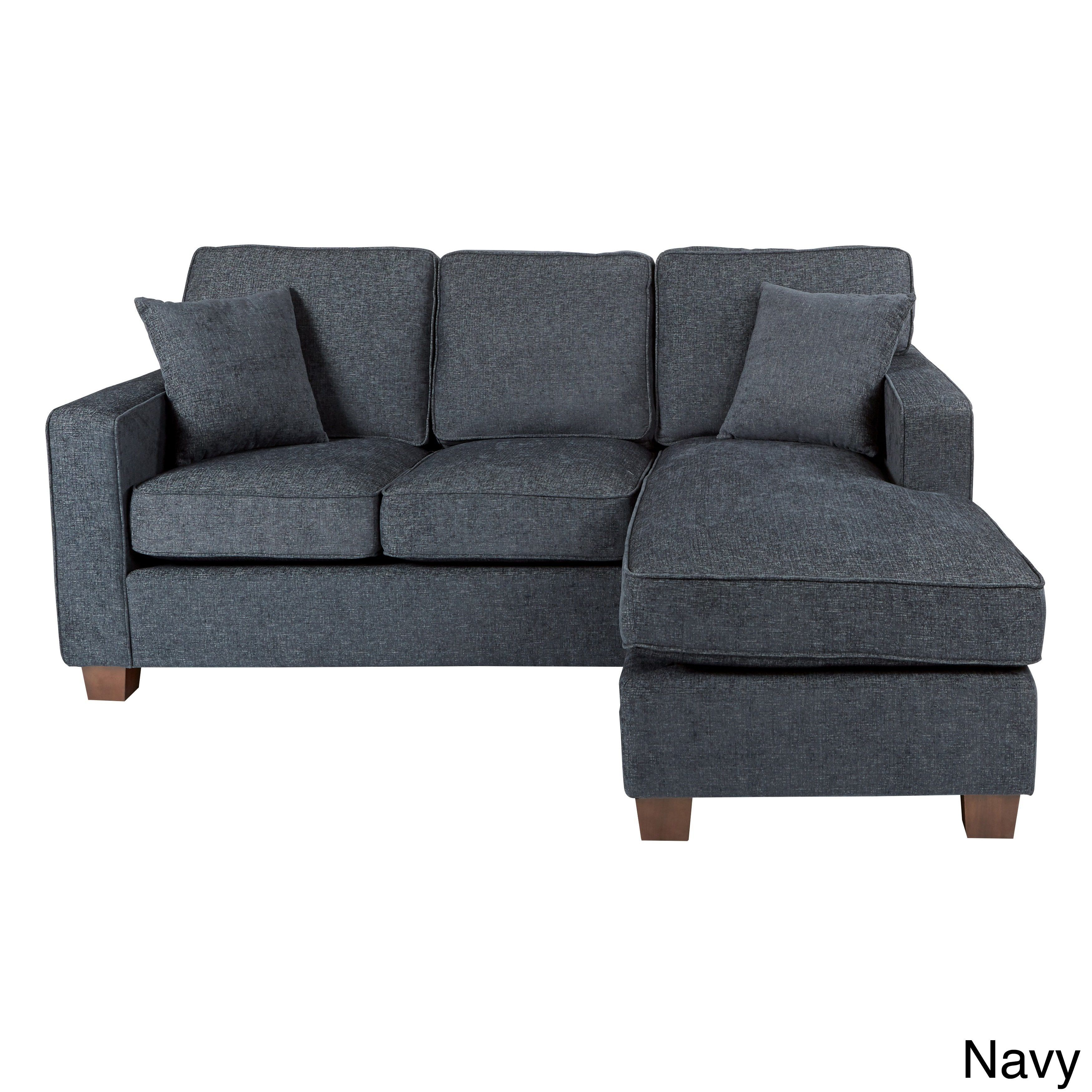 office chaise. Office Star Products Ave Six Russell Reversible Chaise Sectional Sofa (Navy), Blue (