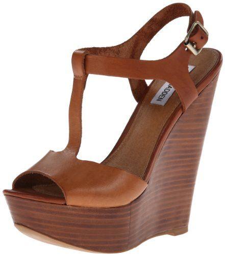 Steve Madden Women's Bittles Wedge Sandal,Cognac,8.5 M US Steve Madden http: