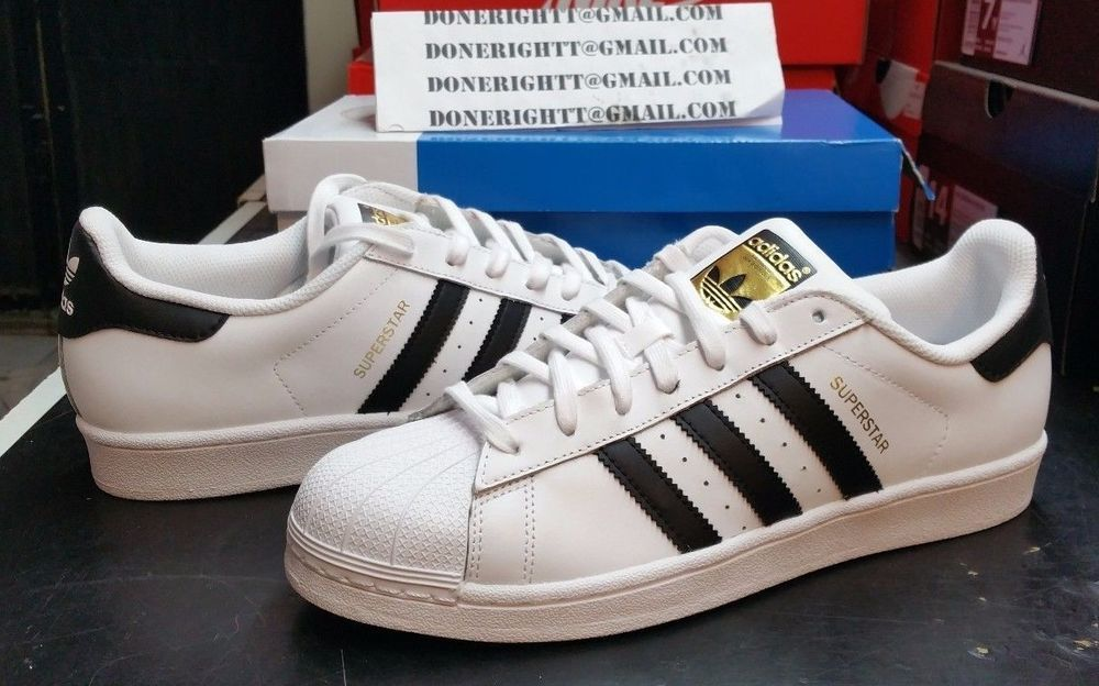 Adidas Superstar Shell Toe Men's Size 10.5 White With Black Stripes -  Google Search