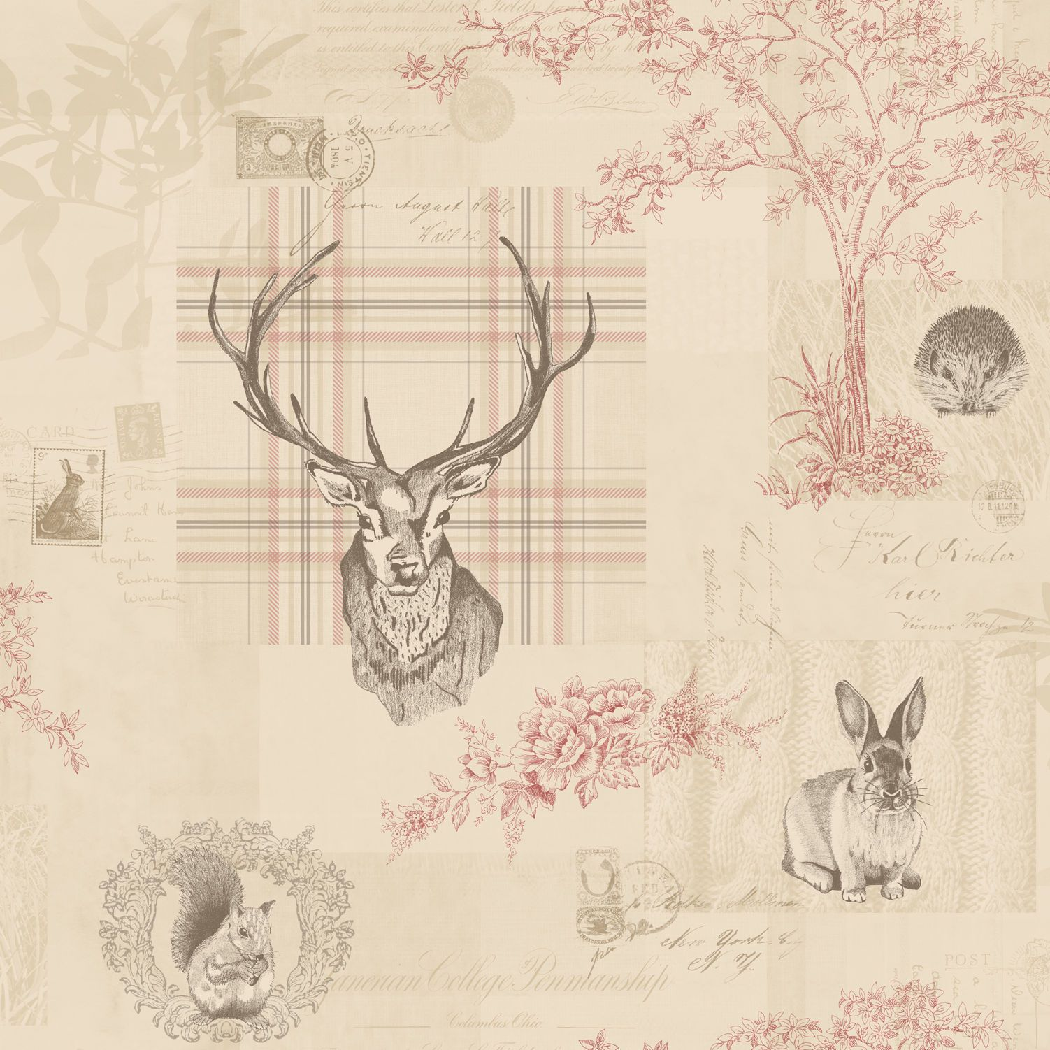 Richmond Stag Wallpaper By Holden Decor 98010 Wall