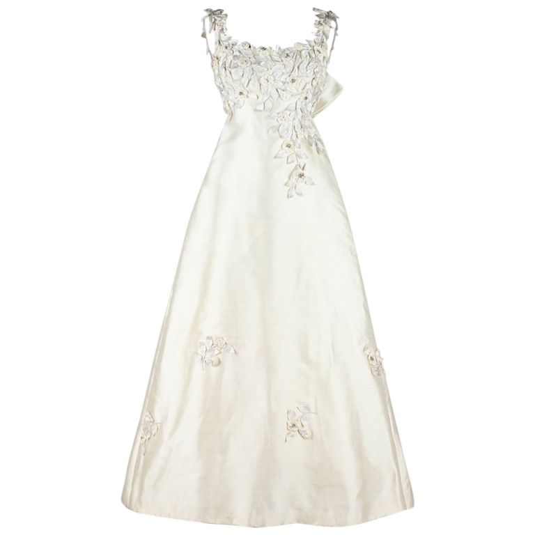 Vintage 1960\'s Saks Fifth Avenue Wedding Dress | Vintage, Amazing ...