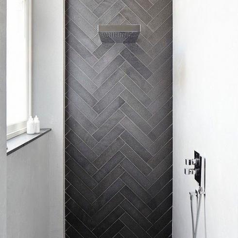 Brick Docks Tegel Black 8 6 X 35 Cm Visgraat Toiletten