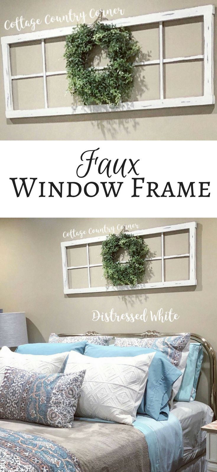 This frame looks great over the bed - would also look good behind ...