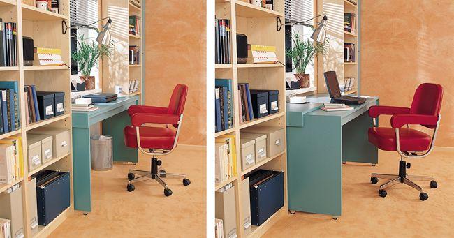 Con elementi di MDF e qualche scaffale libreria dell\'Ikea, la parete ...