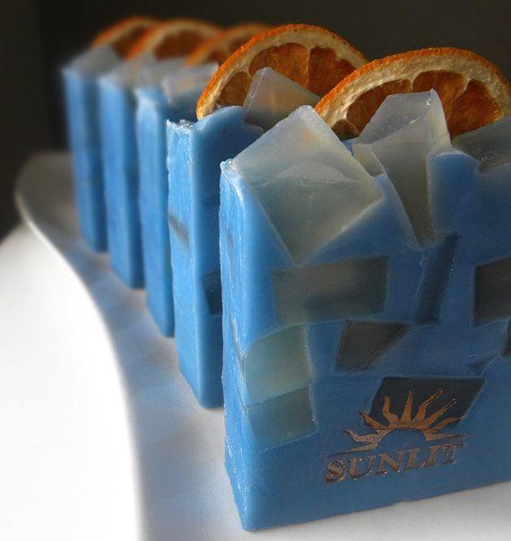 Blue Motorcycle Artisan Soap by Sunlitsoap on Etsy