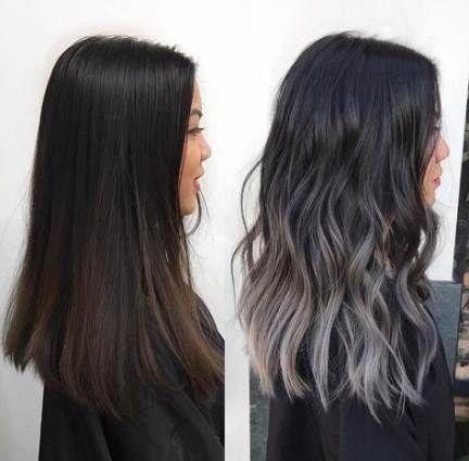 43 Ideas Hair Balayage Silver Black -   17 black hair Highlights ideas