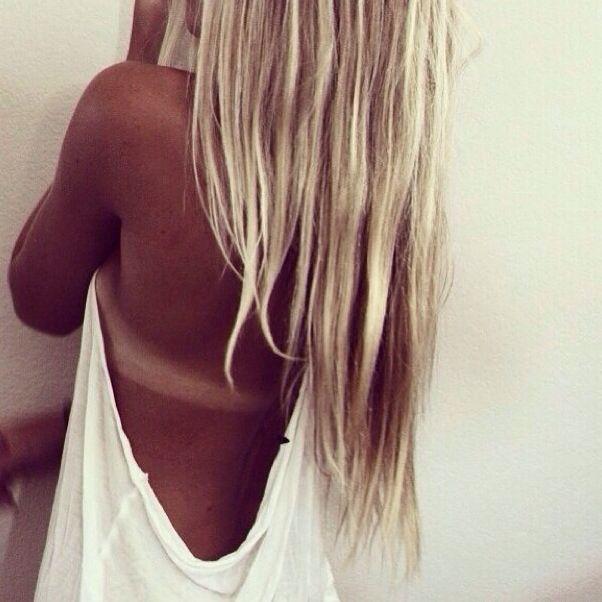 Vivacious tanned blonde