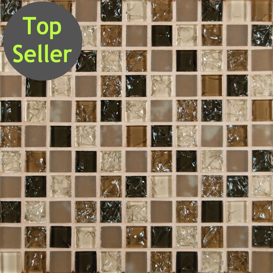 Crackled Glass Tile - Roman 1\