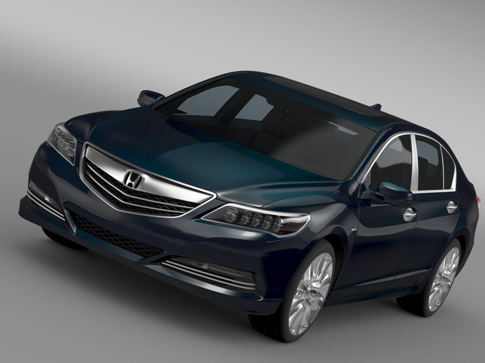 Honda Legend Hybrid 2015 3D Model   Vehiculos