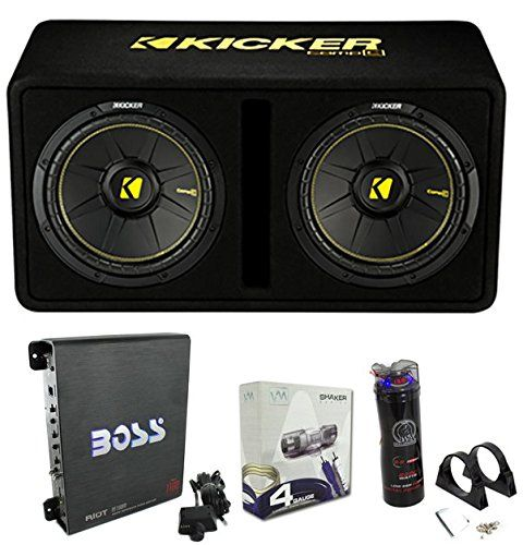Kicker 44dcwc122 12 1200w Car Subwoofers Sub Enclosure Amp Capacitor Wire Car Subwoofer Car Audio Car Stereo Systems