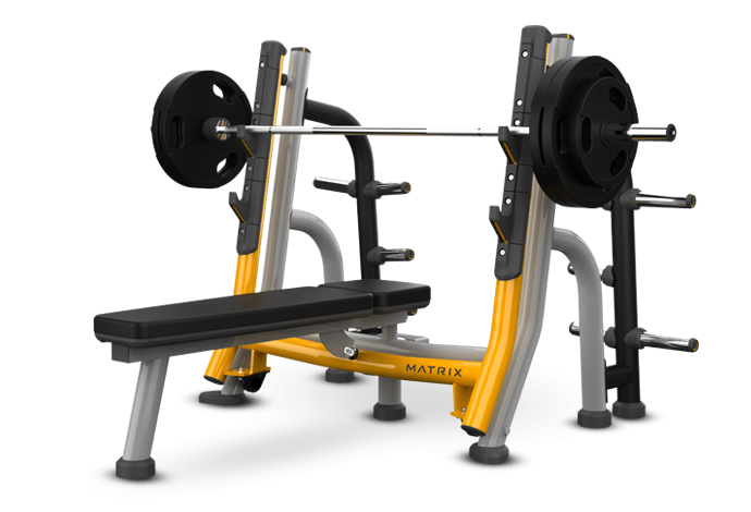 Breaker Olympic Flat Bench Matrix Fitness Equipment