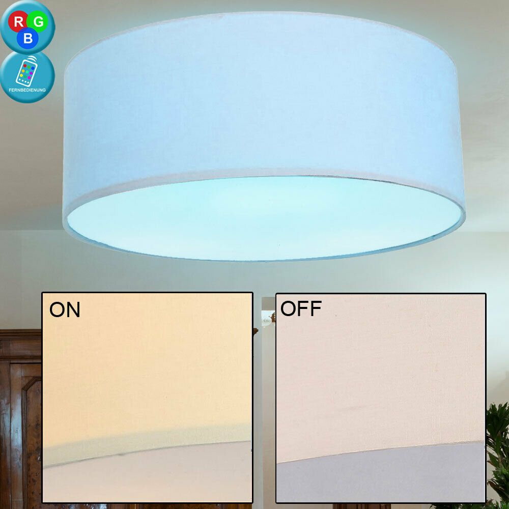 dimmbare LED Farbwechsler Decken Leuchte Wohn Schlaf Zimmer Lampen Fernbedienung