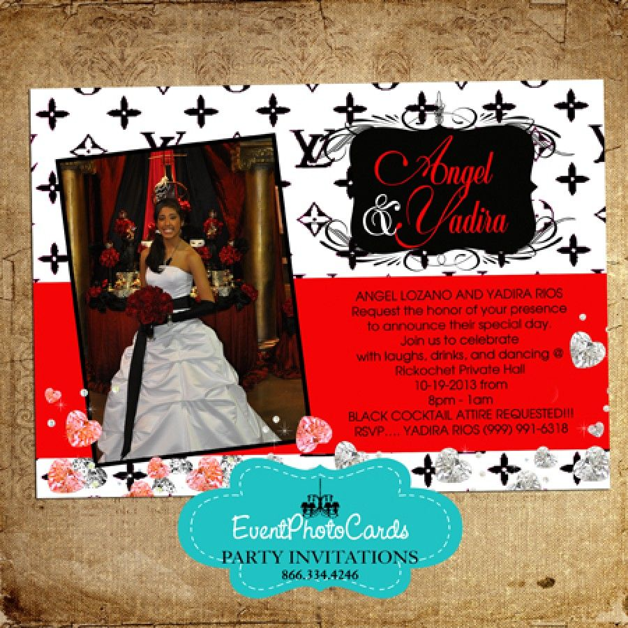 Loui Vitton Wedding Photo Invitations | Wedding Invitations ...