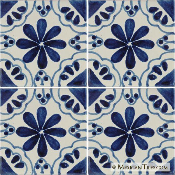 Mexican Tile Blue Isabel Terra Nova Hacienda Ceramic Tile