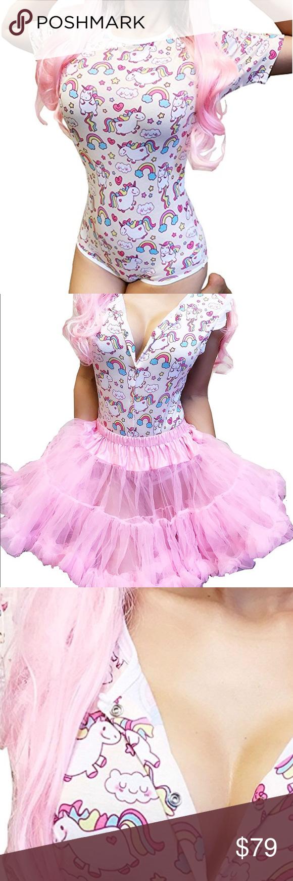 Rainbow unicorn festival rave party costume romper Boutique ...