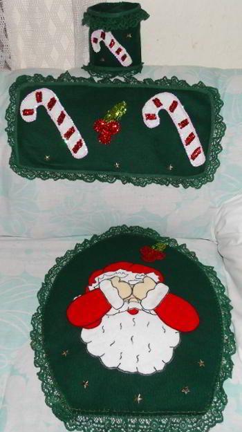 Patrones Y Moldes De Juegos De Banos Para Navidad En Fieltro Gratis
