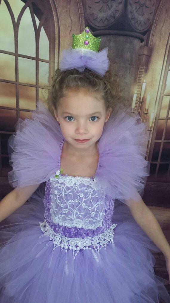 Purple lavender lace princess tutu dress, princess birthday dress ...