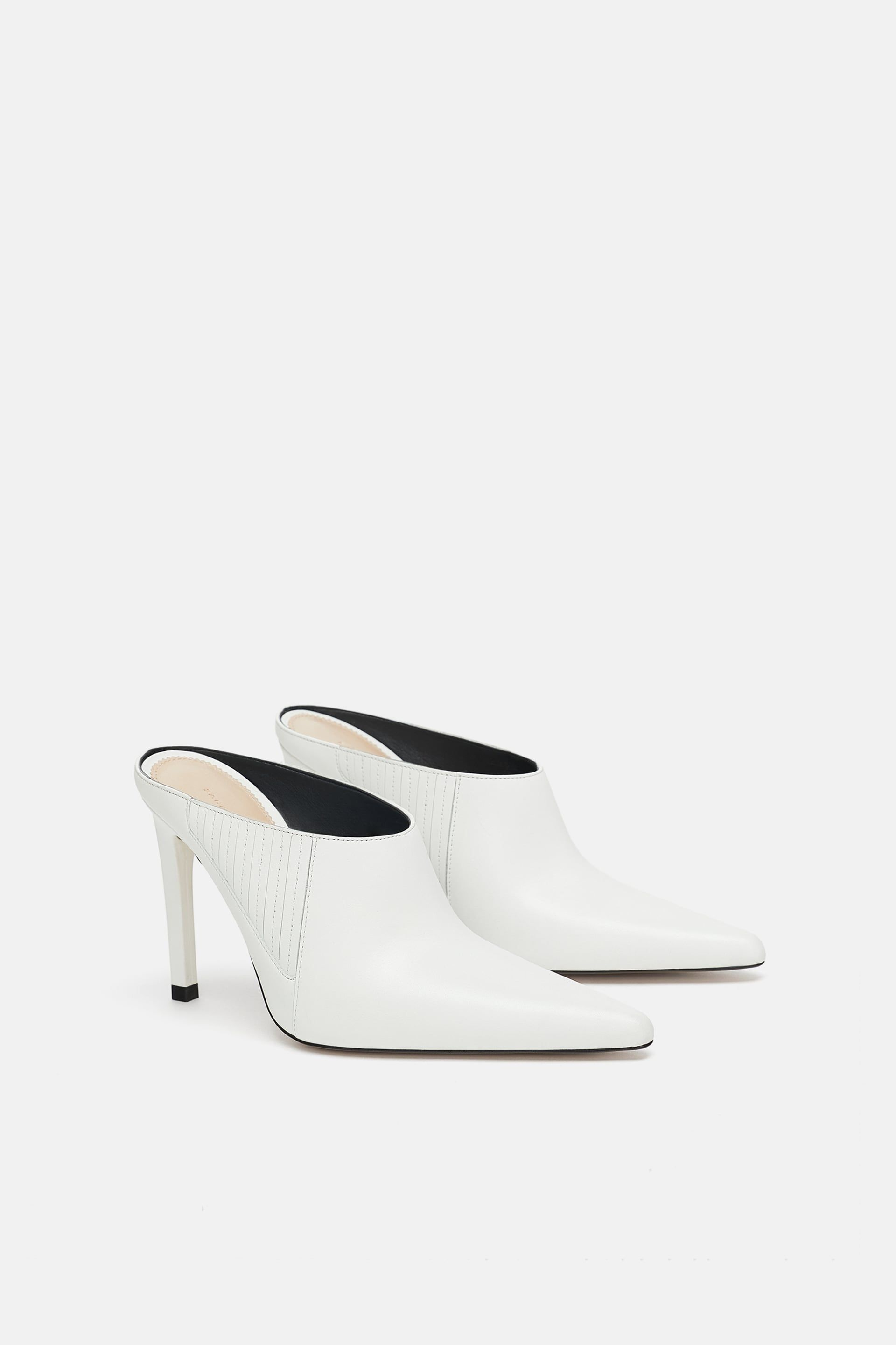 8ded0c996d61 LEATHER HEELED MULES Leather Mules
