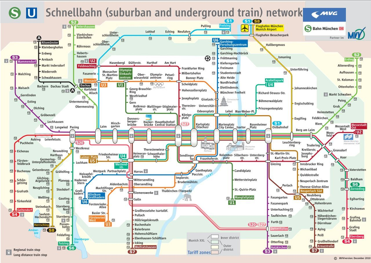 Como utilizar o metr de Munique os trams e nibus e qual passe